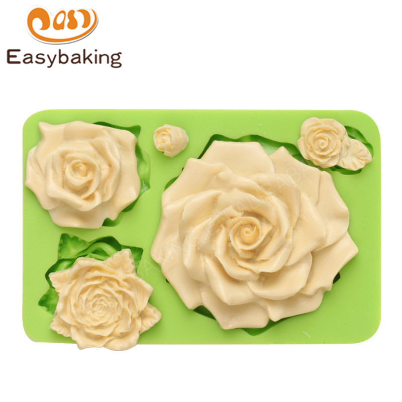 Flower series Large Rose Silicone Mold for Fondant Cake