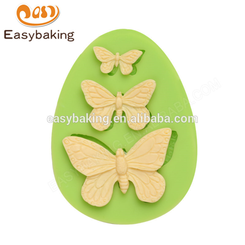 Wholesale new design food grade butterflies silicone molds for cake decorating