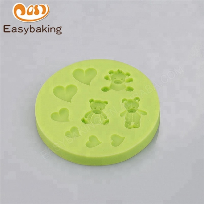 Arrival Love Heart Decorations Gummy Bears Silicone Molds