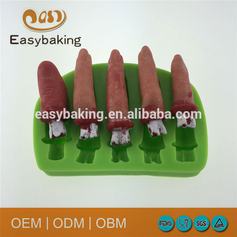 Customize Halloween Theme Human Finger Polymer Clay Silicone Decoration Mould