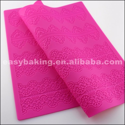 Modern Design Lace Silicone Molds Fondant Cakes Mat