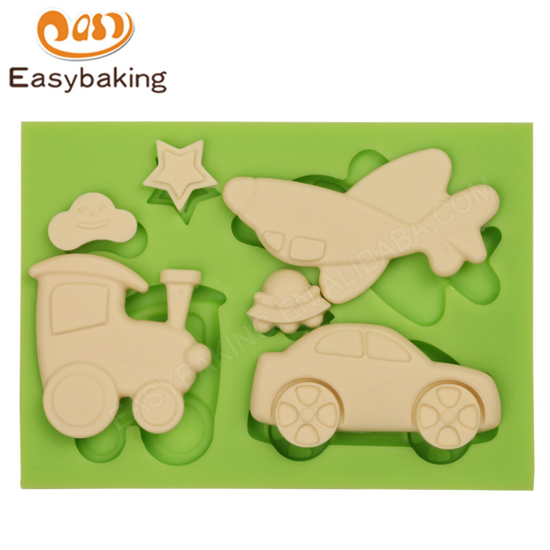 Airplanes Shape 3d silicone fondant icing molds for fondant mould