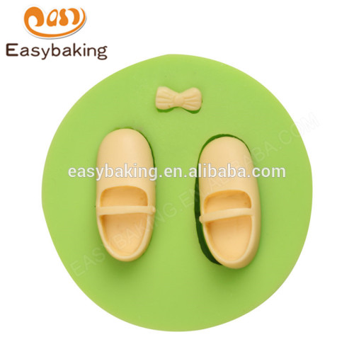 Wholesale handmade creative eco-friendly baby shoes & bow silicone mould