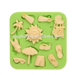 Hot sale beach series Eco-friendly silicone cupcake mold cake decorating