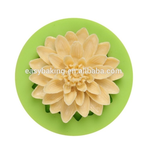 New product heat flower handmade silicone soap mould baking mold
