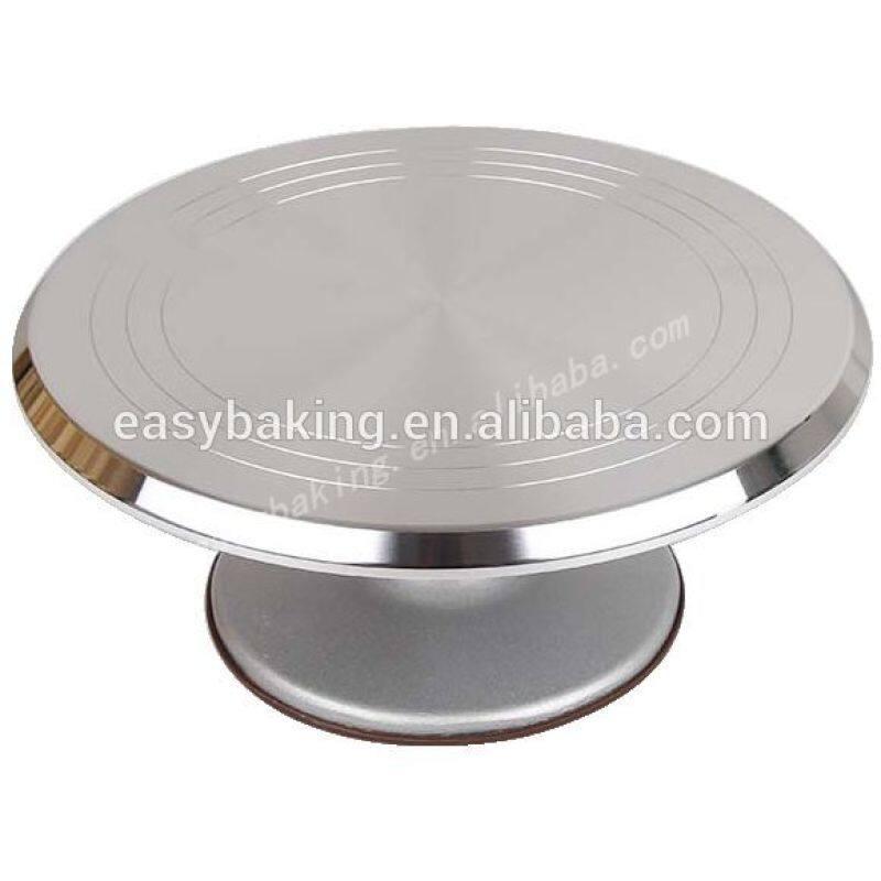 Metal rotating wedding cake stand ice turntable for cake decoration , display