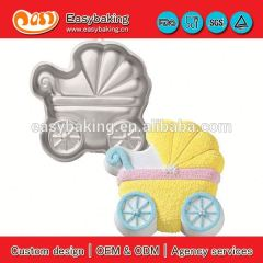 Custom Baby Buggy Aluminum Mold Cookie Cutter Metal Cake Pan For Cake Decorating