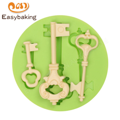 key shape silicone fondant mold