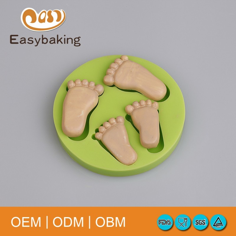 2016 Professional Manufacturer soap silicone mold foot shape cake Decorating tools silicone mold