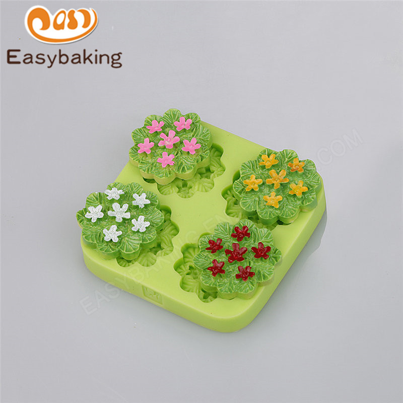Best selling flower bloom silicone cake decoration mold fondant cake