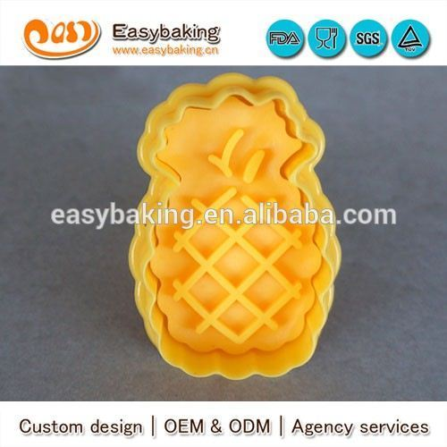 Food Grade 3D Design Pineapple Cookie Cutters For Cake Decor