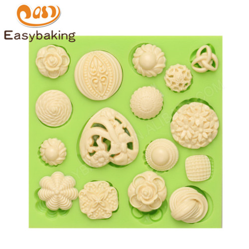 3D jewel Silicone Mould Fondant Sugar  Cake Decorating tools