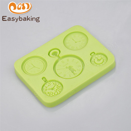 Classical watch decorated fondant cake chocolate silicone mold