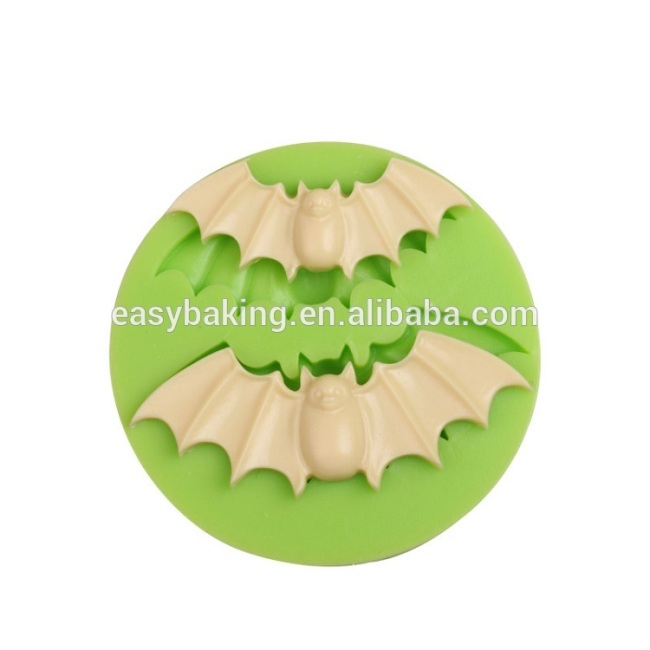 Special design Halloween series bat shape silicone mold for candy or cupcake
