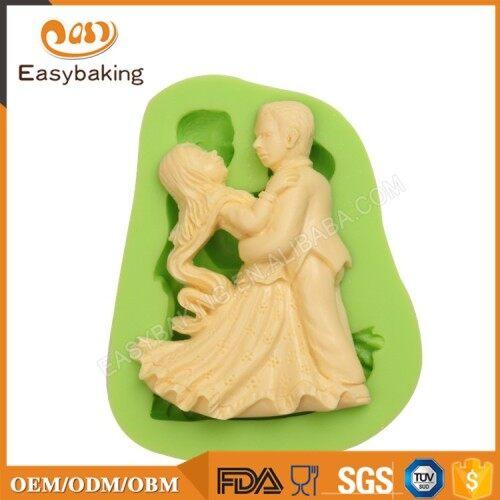Dancing Man and Woman Shape Cake Fondant Decorating Mold Craft