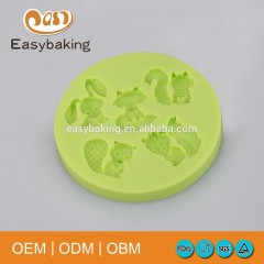 Rabbit Tanuki Squirrel Cake Decoration Silicone Molds For Polymer Clay