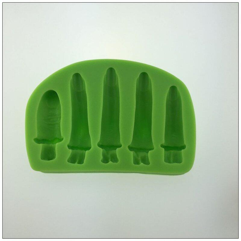 Food Grade Finger shape Halloween terror Decorating silicone molds for Fondant Cake
