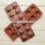 Chocolate sIlicone mold 12 Cavities Five-pointed star shape Chocolate chip molds silicone
