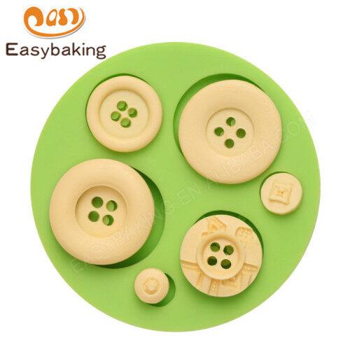 Button shape fondant mold 3d silicon cake mould