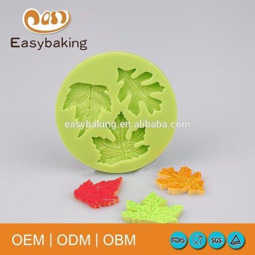 Fondant cake decorating tools silicone maple leaves cake mold