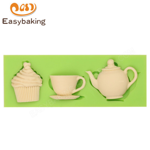 Teatop cup icecream shape  3d silicone fondant tools mould