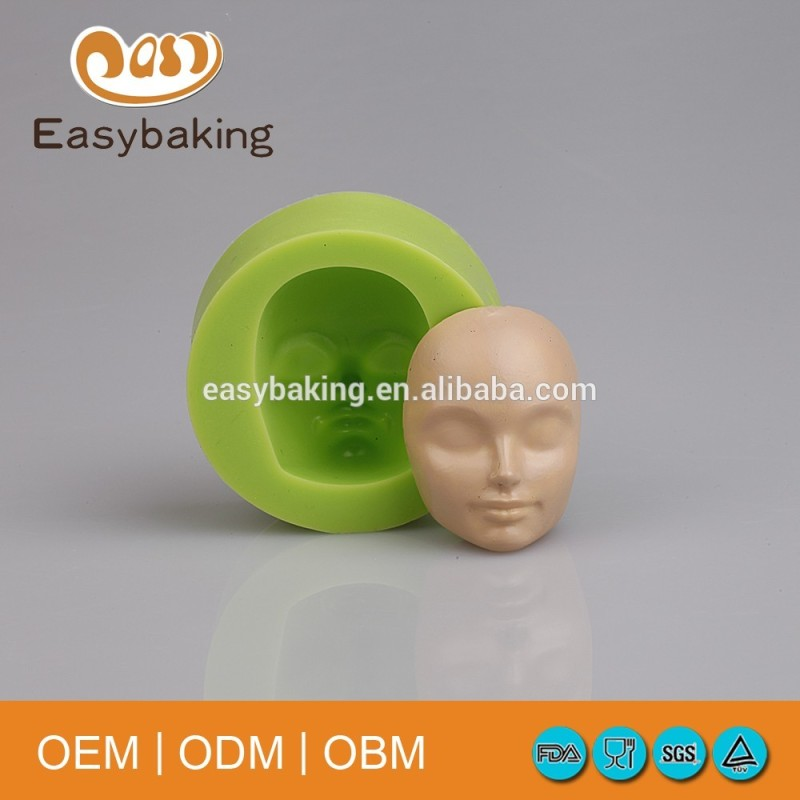 Best Selling Slepping Baby Face Fondant Mold For Silicone Soap Decorating