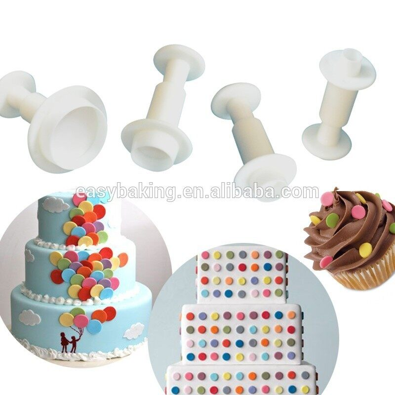 Cake decorating miniature round plunger cutter set of 3
