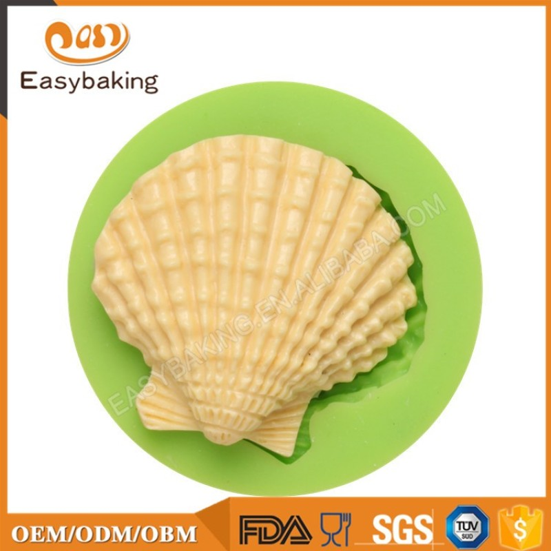 2017 Promotional Item Silicone Mold Sea Shell for Sugarpaste