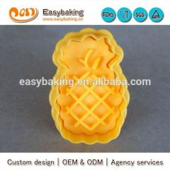 China factory supply wholesale custom pineapple plastic cookie cutters