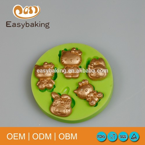 Cartoon Series Cheap 3D New Design Cake Decoration Hello Kitty Silicone Mould