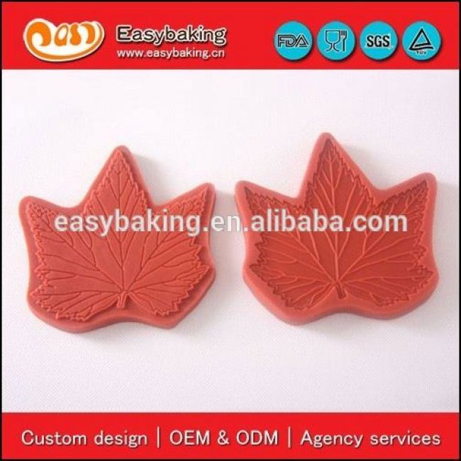 Factory direct sale 3D sugar craft veiner leaf fondant silicone molds cake decorating
