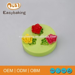 FDA Cheap Rose Silicone Chocolate Moulds For Cake Decorate Candy Jewellery