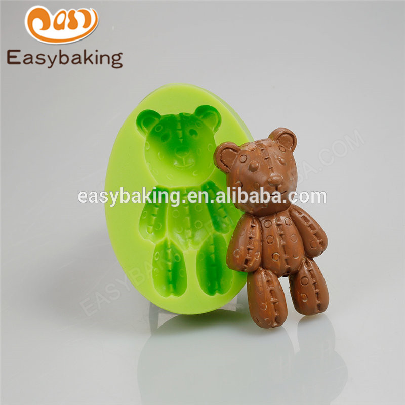 Food Grade Top-Selling Customized Lovely Teddy Bear Silicone Molds