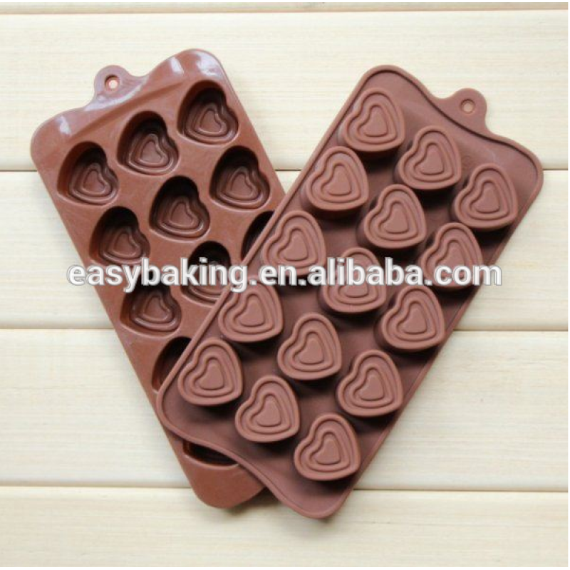 Hot product 15 Cavities love heart shape chocolate silicone mold Bakeware