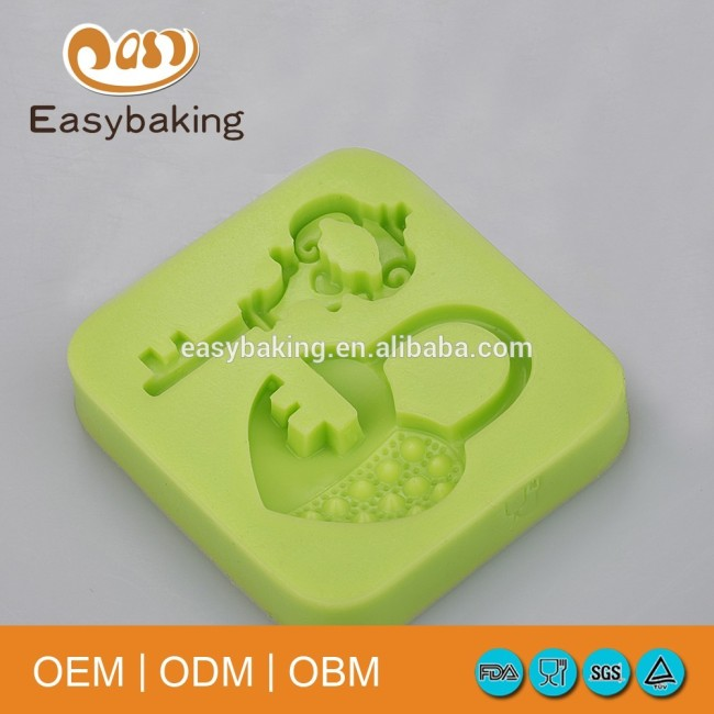 Creative A Set Of Keys & Love Lock Wedding Cake Clay Decorations Silicone Molds