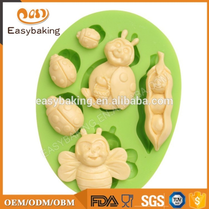 Bee insect shape muffin silicone cake mold easter chocolate mold