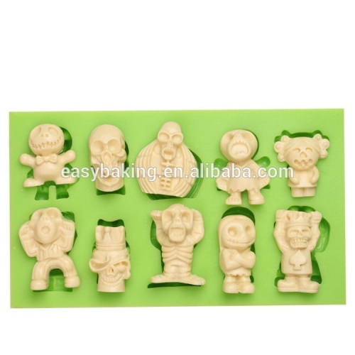 China wholesale Halloween series cute silicone necklace decoration molds