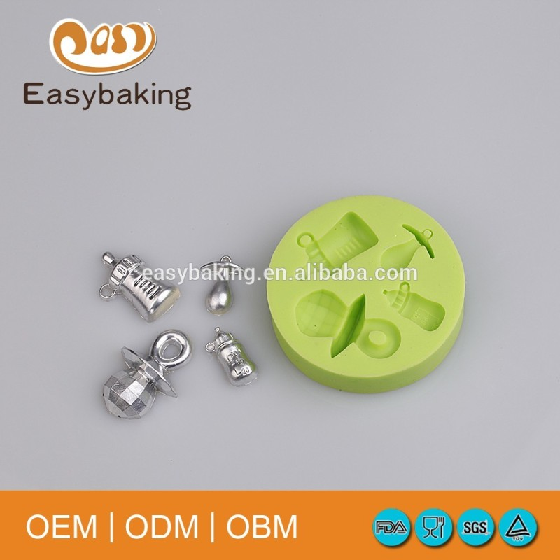 Baby Accessories Bottle Nipple Gem Pacifier Shaped Candy Silicone Mold Cake Decoration Tool
