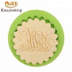 DIY Happy Birthday Plaque Silicone Fondant / Gum Paste Mould