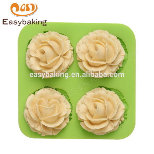Newest promotional 84*84*20 beautiful customized flower silicone mold