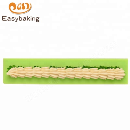 Cake Edging Tools Long Shell Border Lace Decorating Silicone Mold