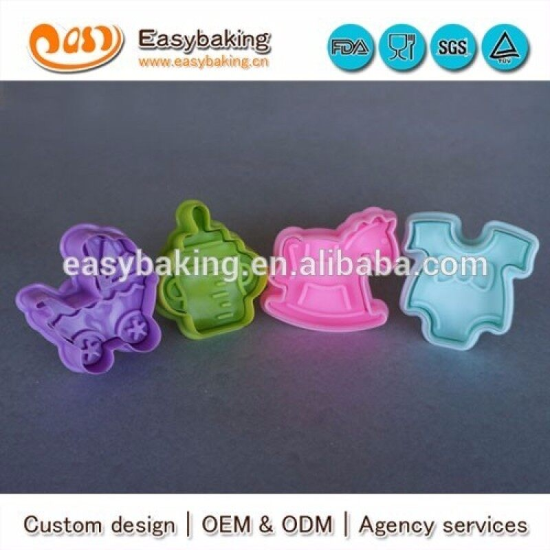 Food Grade Baby Suit Stroller Cock Horse Feeder Biscuit Cutter Cooky Cutter