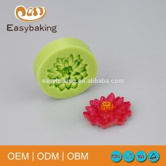 Polymer Clay Resin Fondant Water Lily Lotus Flower Silicone Molds