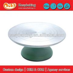 Wholesale 33cm aluminum cake turntable metal turntable for cake decorating
