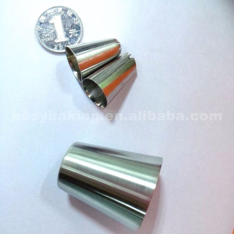 Food-contact Safe 304 Stainless Steel Cake Decorating Tips