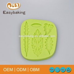 Novelty Maple Autumn Leaves Cake Silicone Gumpaste Mould For Decoration Cookie Kitchenware