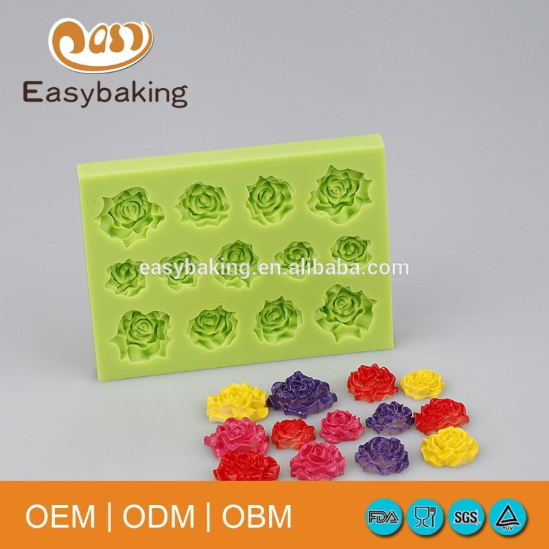 Multi Hole Rose For Cupcake Silicone Fondant Molds Craft Decorations