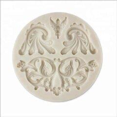 Baroque Ribbon with European Retro Lace Fondant Cake Silicone Mold