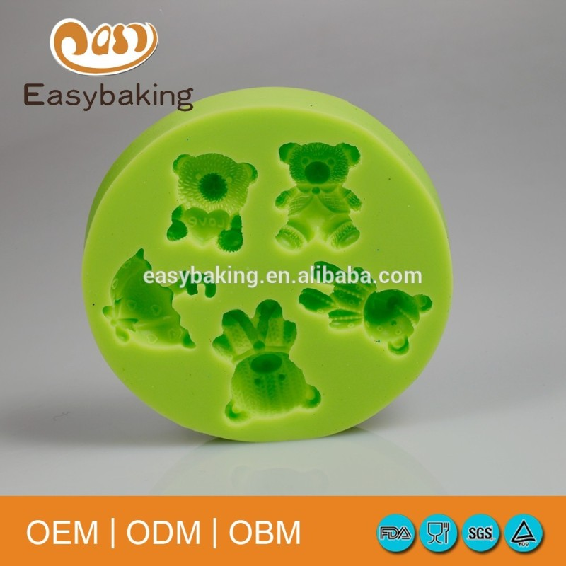 Bear Vigny Umbrella Shaped Silicone Molds For Confectionery