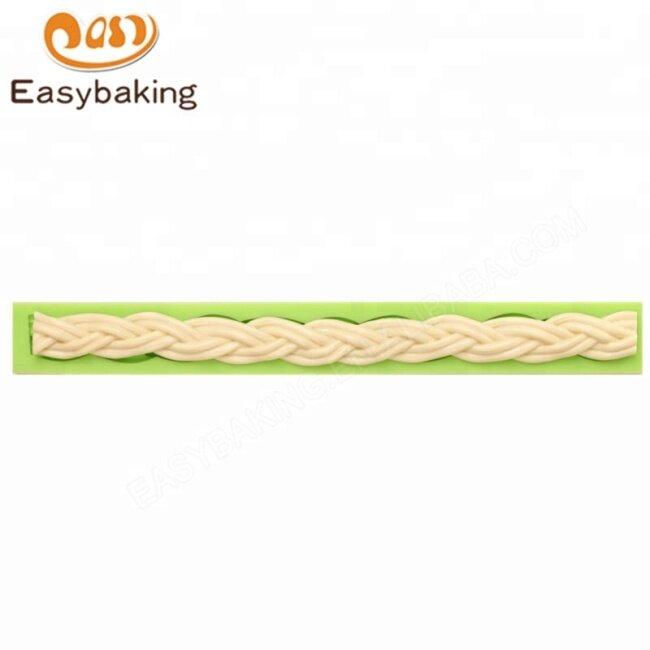 3D Weave Fondant Cake Sugarcraft Decorating Silicone DIY Mold Tools